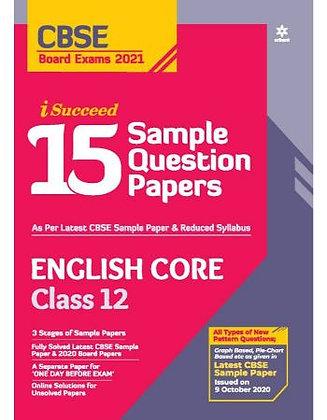 Cbse I Succed 15 Sample Q. Paper English Core Class 12 for 2021 Exam - Arihant