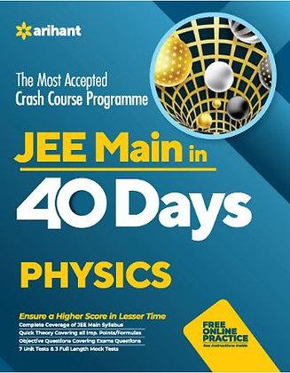 40 Days Crash Course for JEE Main Physics - Arihant