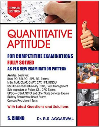 Quantitative Aptitude for Competitive Examinations by R.S. Aggarwal