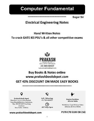 Electrical Engineering Notes: Computer Fundamental