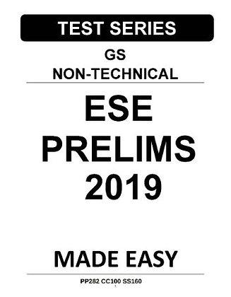 ESE Prelims Test Series GS Non-Technical 2019 - Made Easy