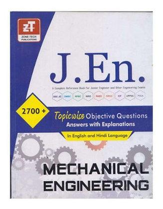 J.En. 2700+ Topicwise Objective Questions Mechanical Engineering - Zone Tech