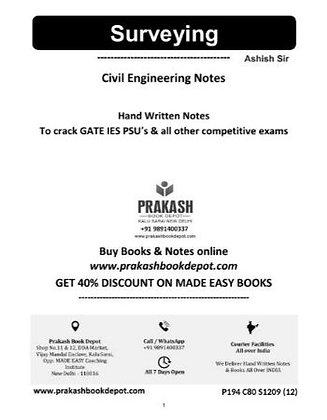 Civil Engineering Notes: Surveying