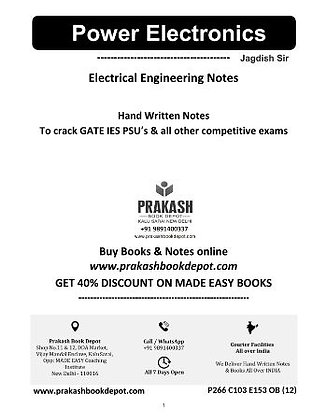 Electrical Engineering Notes: Power Electronics