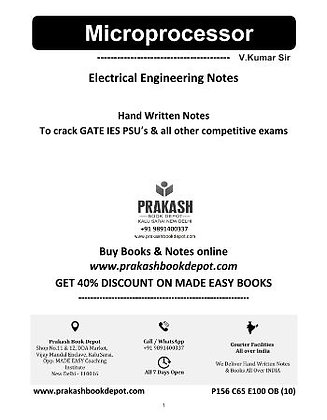 Electrical Engineering Notes: Microprocessor