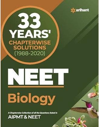 33 Year's Chapterwise AIPMT & NEET Biology 2021 - Arihant