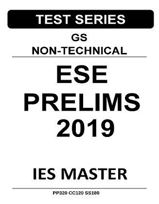 ESE Prelims Test Series GS Non-Technical 2019 - IES Master