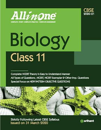 Cbse All in One Biology Class 11 for 2021 - Arihant