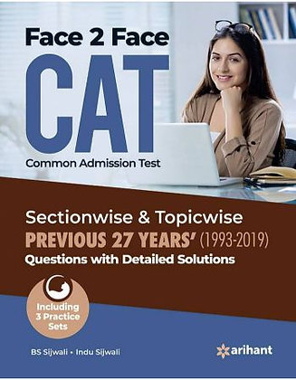 Face to Face Cat 27 Years Sectionwise & Topicwise Solved Paper 2020 - Arihant