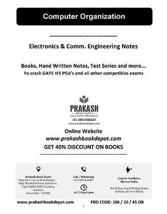 Electronics & Comm Notes: Computer Organization