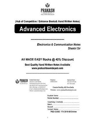Electronics & Comm Notes: Advanced Electronics