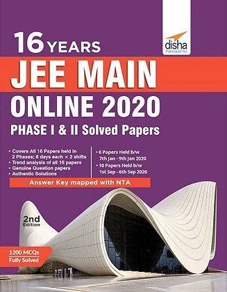16 Jee Main Online 2020 Phase I & II Solved Papers - Disha