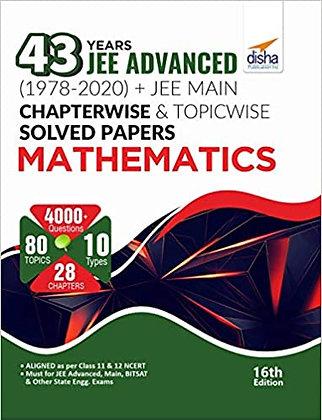 43 Years JEE Advanced (1978 - 2020) Mathematics - Disha