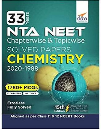 33 Year's Chapterwise AIPMT & NEET Chemistry 2021 - Disha