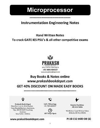Instrumentation Engineering Notes:Microprocessor