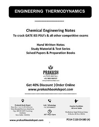 Chemical Engineering Notes: Engineering Thermodynamics
