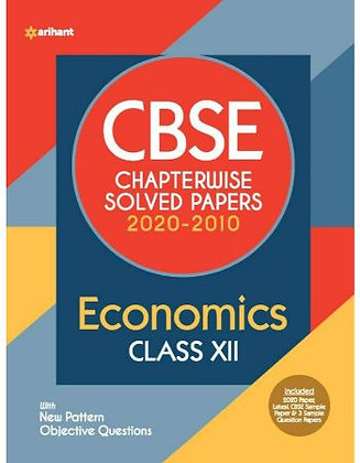 Cbse Economics Chapterwise Solved Papers Class 12 for 2021 Exam - Arihant