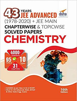 43 Years JEE Advanced (1978 - 2020) Chemistry - Disha