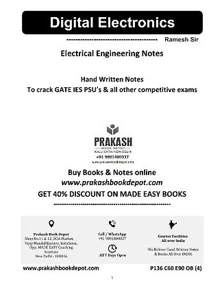 Electrical Engineering Notes: Digital Electronics