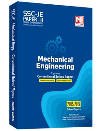 SSC: JE ME Engg. - Prev. Yr Conv. Solved Papers II (Made Easy)