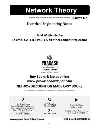Electrical Engineering Notes: Network Theory