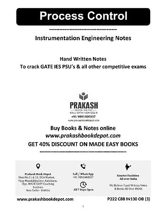 Instrumentation Engineering Notes:Process Control & Optical