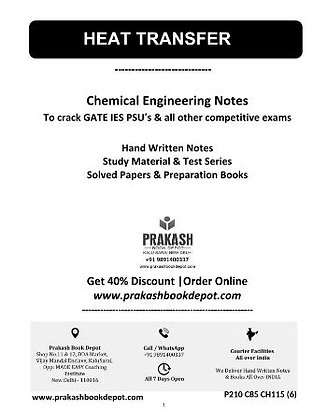 Chemical Engineering Notes: Heat Transfer