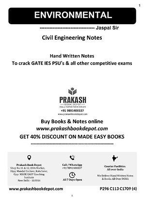 Civil Engineering  Notes: Environmental Engineering