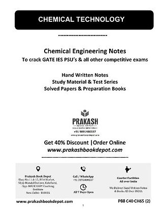 Chemical Engineering Notes: Chemical Technology