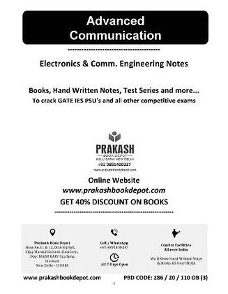 Electronics & Comm Notes: Advanced Communication