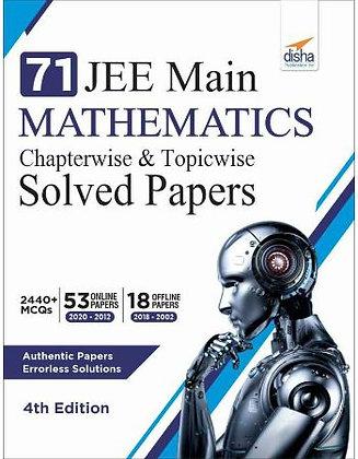 71 Jee Main Mathematics Online (2020 - 2012) & Offline (2018 - 2002) - Disha