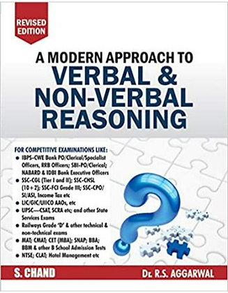 A Modern Approach to Verbal & Non-Verbal Reasoning - RS Aggarwal
