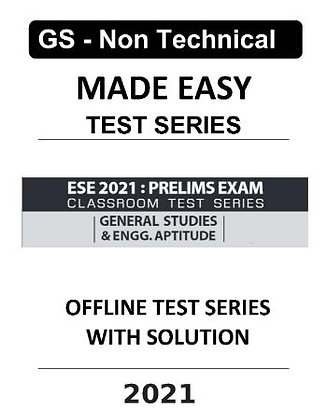 GS & Engg. Aptitude Test Series 2021 With Solution - MADE EASY