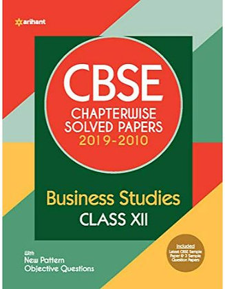 Cbse Business Stud. Chapterwise Solved Papers Class 12 for 2021 Exam - Arihant