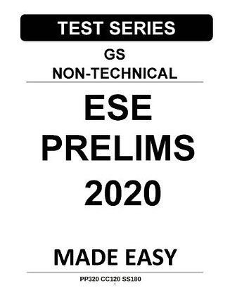 ESE Prelims Test Series GS Non-Technical 2020 - Made Easy