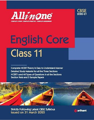 Cbse All in One English Core Class 11 for 2021 - Arihant