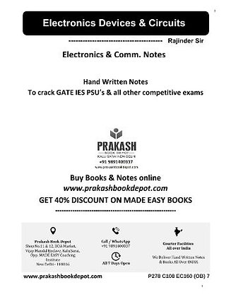 Electronics & Comm Notes: Electronics Devices & Circuits