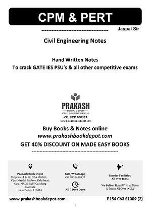 Civil Engineering Notes: CPM & PERT