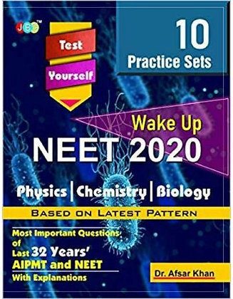 "10 PRACTICE SETS"" 'Test Yourself - ""NEET 2020"" (Wake up)-PCB - JBC Pub."