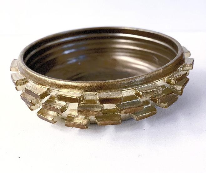 Gold ceramic bowl