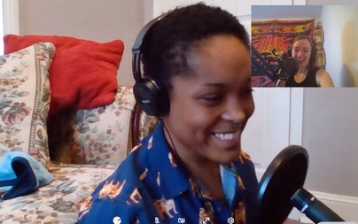"""Screenshot from """"no small parts"""" Podcast with Brittany Brewer"""
