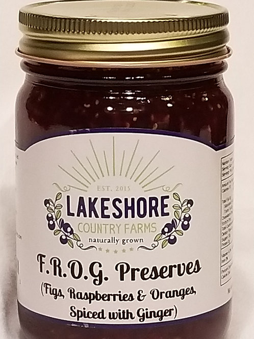 FROG Preserves with Fig, Raspberries, Oranges and Ginger too!