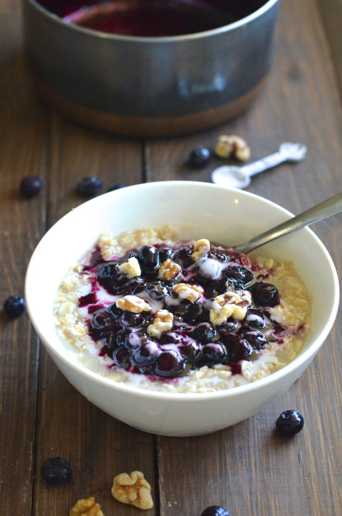blueberry foster oatmeal