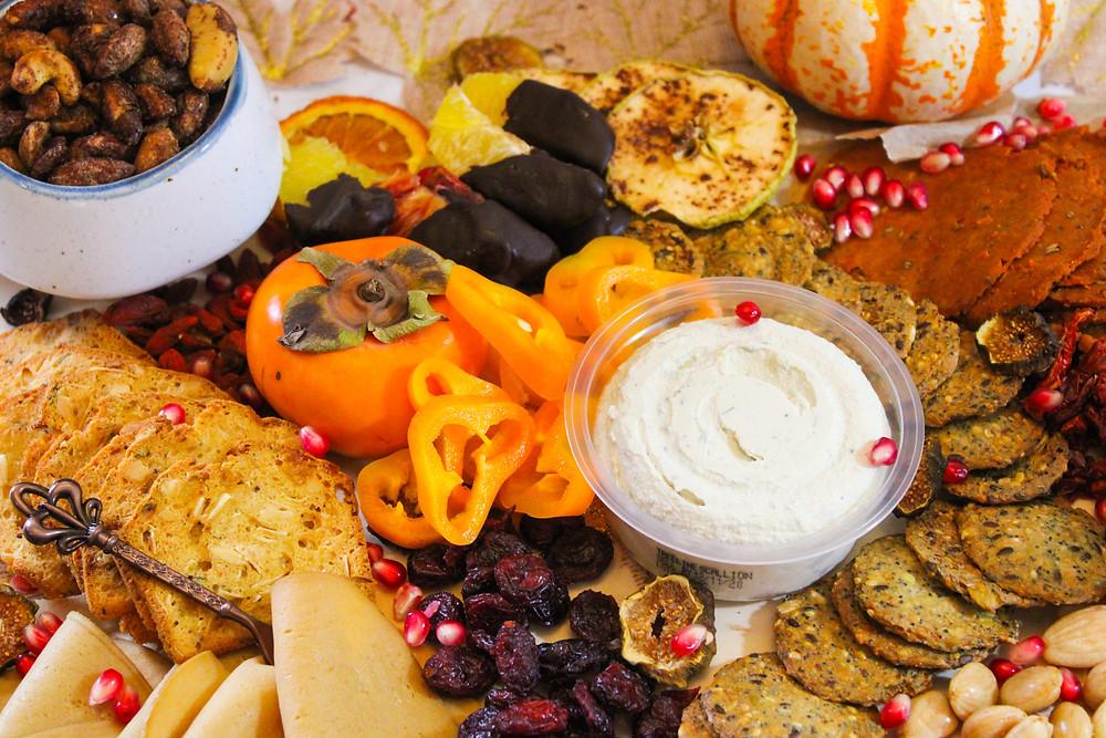 Thanksgiving snack board vegan