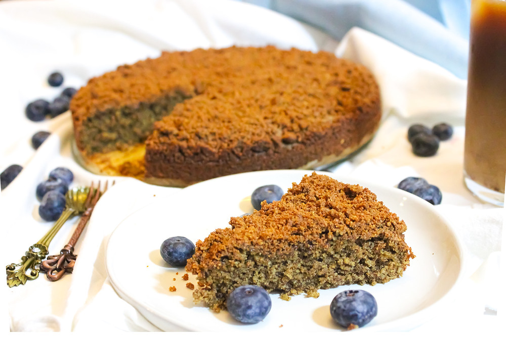 plant-based coffee crumb cake