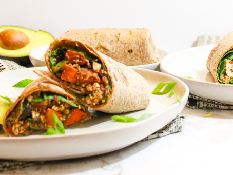 Sweet Potato Tofu Burritos
