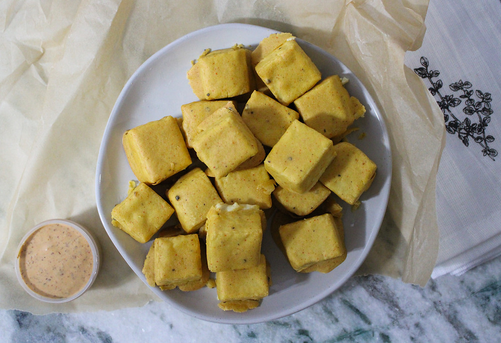 vegan tofu nuggets without oil or gluten