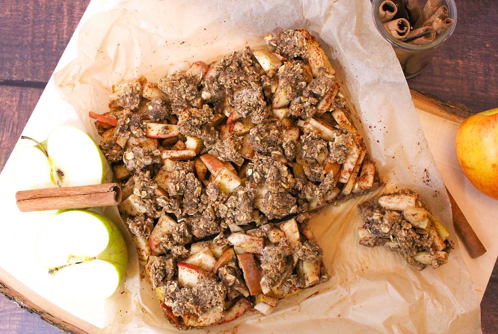 plant-based apple oat almond flour bars