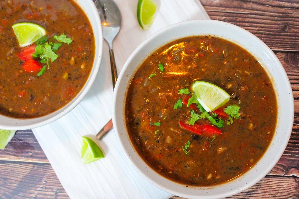 Easy Vegan Black Bean Soup