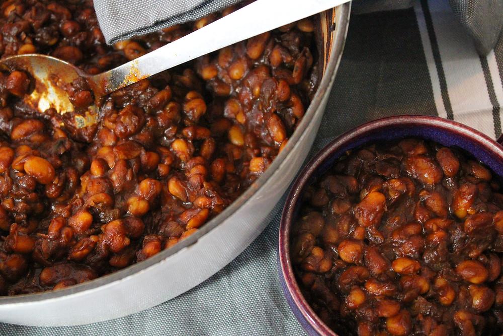 easy oil-free gluten-free baked beans vegan